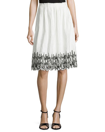 Sienna Gathered Skirt with Embroidered Hem