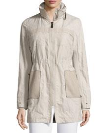 Juliana Zip-Front Coat