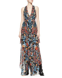 Kora Deep-V Printed Dress