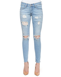 Distressed Skinny Ankle Jeans, Munoz