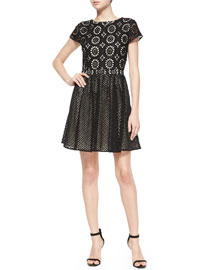 Sonny Embroidered Fit-and-Flare Dress
