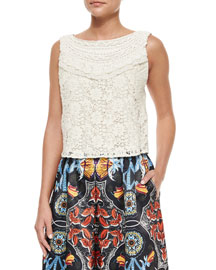 Finlay Fitted Sleeveless Crochet Top