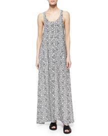 Coruna Paisley Maxi Dress, Light Navy/Ivory