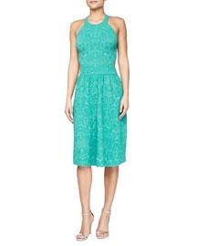 Sleeveless Mosaic Jacquard Dress