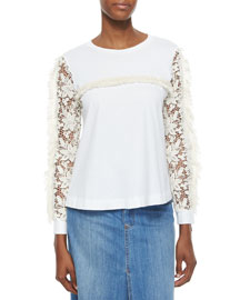Long-Lace-Sleeve Top