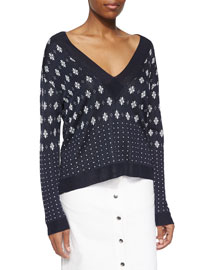 Abigale Pullover V-Neck Top