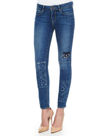 Verdugo Skinny Patchwork Jeans, Ryder Piecing