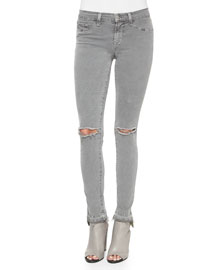 Mid-Rise Skinny Jeans, Silver Fox