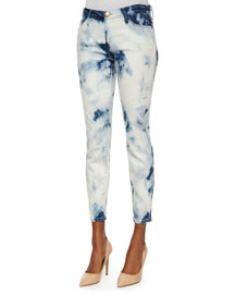 The Stiletto Ankle Jeans, Indigo Summer Tie Dye