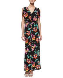 Lunaria B Tropical-Print Maxi Dress