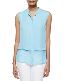 Eve Sleeveless Double Georgette Blouse
