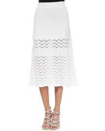 Snyder Zigzag-Stitch A-line Skirt