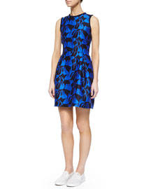 Sandler Leaf-Jacquard Fit & Flare Dress