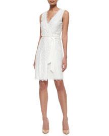Sleeveless Lace Wrap Dress