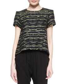 Laurette Short-Sleeve Printed Top