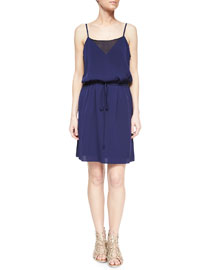 Navy Silk Sophia Tank Dress