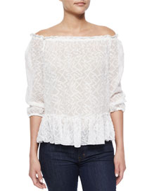 Zigzag Off-the-Shoulder Top