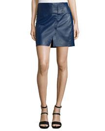 Military Bonded Leather Skirt