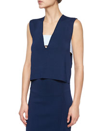 Sleeveless Banded Cutout Top