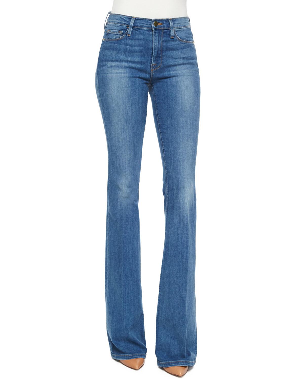 FRAME Le Karlie Forever Flare Jeans, Linden, Size: 28