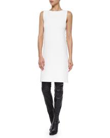 Sleeveless Side-Cutout Shift Dress