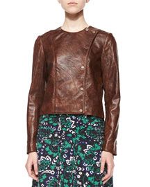 Frontier Fringe Lambskin Leather Jacket