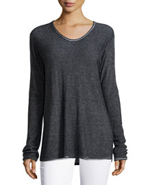 Long-Sleeve Pullover Top
