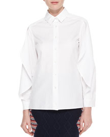 Winged Button-Down Shirt, White