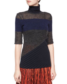 Asymmetric Panel Knit Sweater