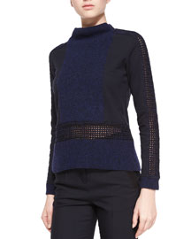 Long-Sleeve Hybrid Knit Top