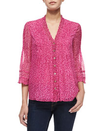 Layla Petal Dreams Printed Top, Pink