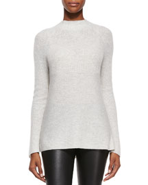 Directional Ribbed Cashmere Sweater