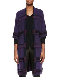 Textured Stripe Wool-Blend Cardigan