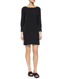 Grainne Modern Shift Dress, Black