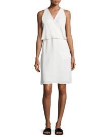 Osteen Silk Wrap-Front Dress
