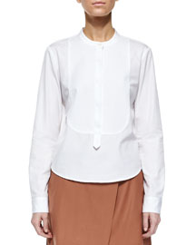 Karessa Tuxedo Bib Top, White