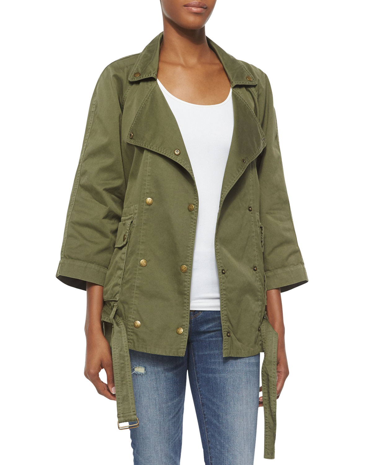 Current/Elliott The Infantry Jacket, Army, Size: 3