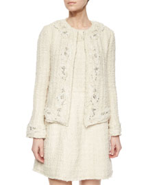 Nilla Embellished Tweed Jacket