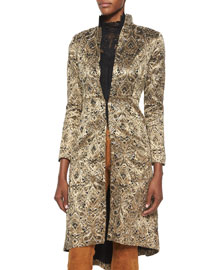 Xia Metallic Jacquard Coat