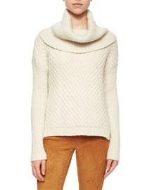 Paxton Mixed-Chunky-Knit Turtle Sweater