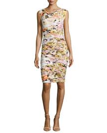 Ruggera Floral-Print Shirred Sheath Dress