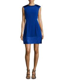 Sleeveless Fit & Flare Combo Dress