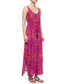 Willow Batik-Print Silk Maxi Dress
