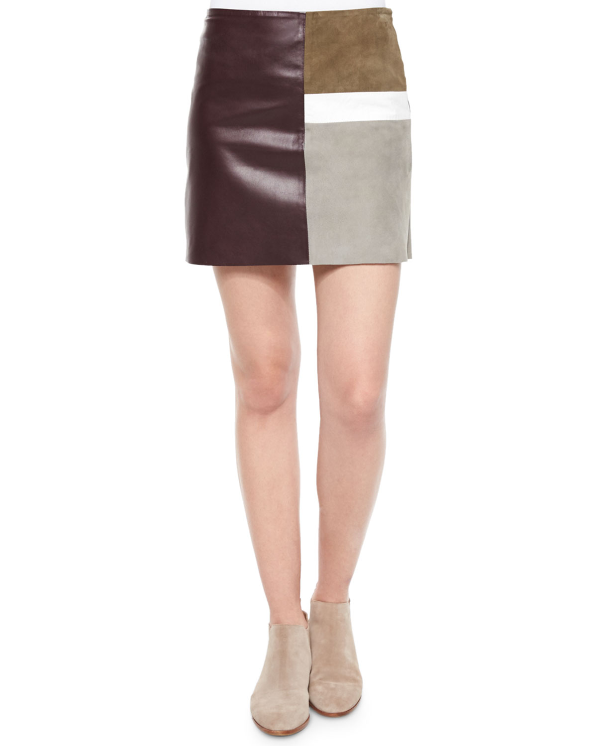 Shanrial Patchwork Combo Skirt, Military