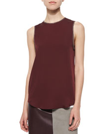 Bringam Sleeveless Silk Top