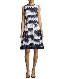 Sleeveless Printed Fit & Flare Dress
