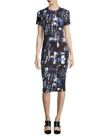 Richter Print Midi Sheath Dress