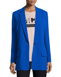 Long Snap-Front Blazer