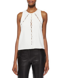 Buddy Sleeveless Cutout-Panel Top