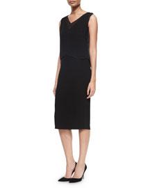 Danni Sleeveless Dress W/ Popover